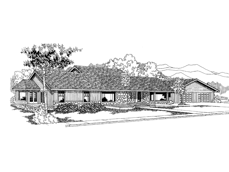 Traditional House Plan Front of Home - 085D-0566 | House Plans and More