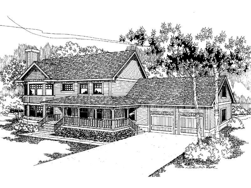 Farmhouse Plan Front of Home - 085D-0567 | House Plans and More