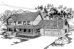 Traditional House Plan Front of Home - 085D-0567 | House Plans and More