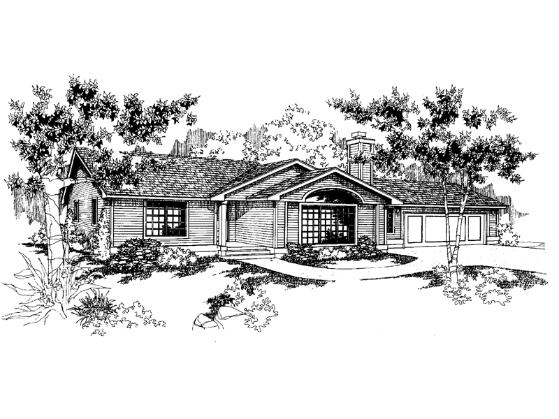 Contemporary House Plan Front of Home - 085D-0569 | House Plans and More