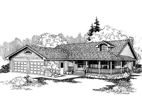 Dunbarton farm country home plan 085d 0575 house plans and more - Full verandah house plans the functional extra space ...