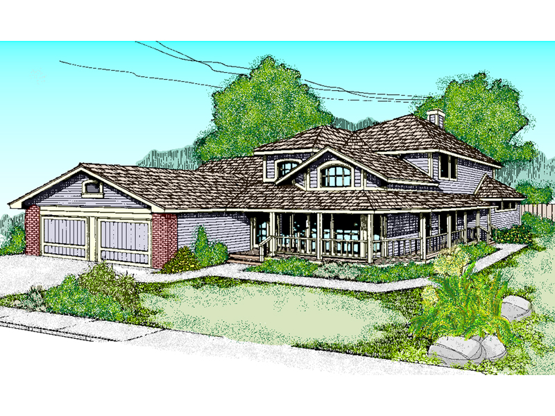 Two-Story Country Design Has Tremendous Curb Appeal