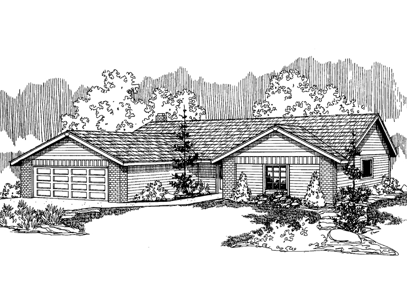 Classic Country Ranch Designed For Any Neighborhood