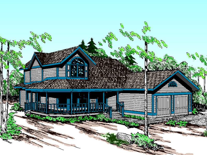 Farmhouse Plan Front of Home - 085D-0598 | House Plans and More