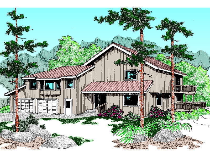 Mountain Home Plan Front of Home - 085D-0605 | House Plans and More