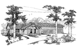 Ranch House Plan Front of Home - 085D-0614 | House Plans and More