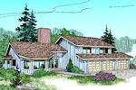 Modern House Plan Front of Home - 085D-0615 | House Plans and More
