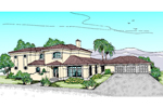 Mediterranean House Plan Front of Home - 085D-0616 | House Plans and More
