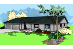 Ranch House Plan Front of Home - 085D-0617 | House Plans and More
