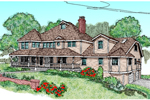 English Tudor House Plan Front of Home - 085D-0623 | House Plans and More