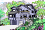 Modern House Plan Front of Home - 085D-0624 | House Plans and More