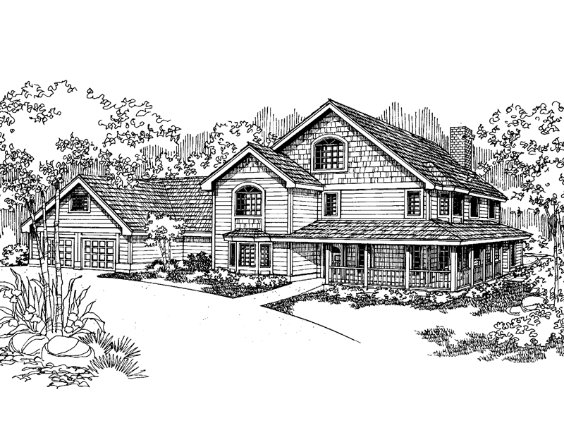 Traditional House Plan Front of Home - 085D-0625 | House Plans and More
