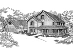 Country House Plan Front of Home - 085D-0625 | House Plans and More