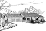 Contemporary House Plan Front of Home - 085D-0626 | House Plans and More