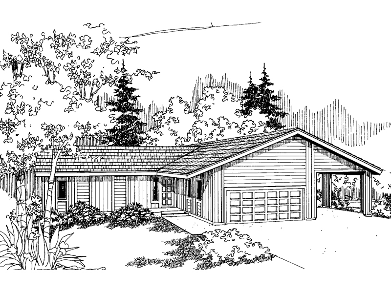 Traditional House Plan Front of Home - 085D-0627 | House Plans and More