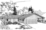 Ranch House Plan Front of Home - 085D-0627 | House Plans and More