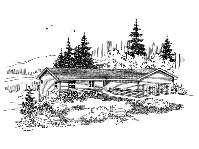 Mountain Home Plan Front of Home - 085D-0628 | House Plans and More