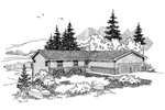 Ranch House Plan Front of Home - 085D-0628 | House Plans and More