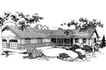 Ranch House Plan Front of Home - 085D-0631 | House Plans and More