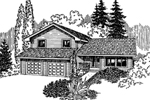 Traditional House Plan Front of Home - 085D-0632 | House Plans and More
