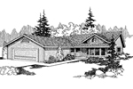 Craftsman House Plan Front of Home - 085D-0634 | House Plans and More