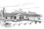 Ranch House Plan Front of Home - 085D-0635 | House Plans and More