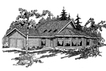 Contemporary House Plan Front of Home - 085D-0636 | House Plans and More