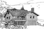 Lake House Plan Front of Home - 085D-0637 | House Plans and More