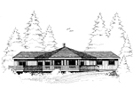 Country House Plan Front of Home - 085D-0638 | House Plans and More