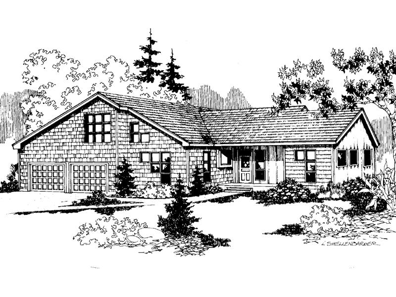 Craftsman House Plan Front of Home - 085D-0640 | House Plans and More
