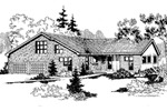 Contemporary House Plan Front of Home - 085D-0640 | House Plans and More