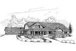 Farmhouse Plan Front of Home - 085D-0643 | House Plans and More