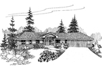 Traditional House Plan Front of Home - 085D-0646 | House Plans and More