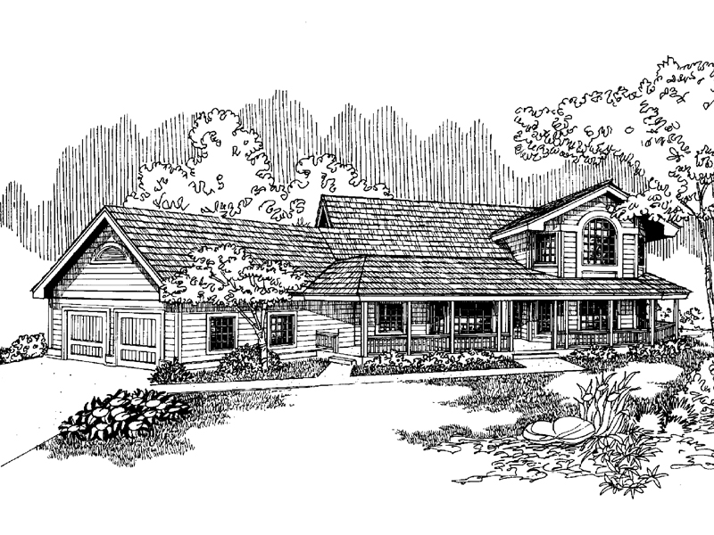Bungalow House Plan Front of Home - 085D-0649 | House Plans and More