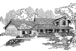 Farmhouse Plan Front of Home - 085D-0649 | House Plans and More