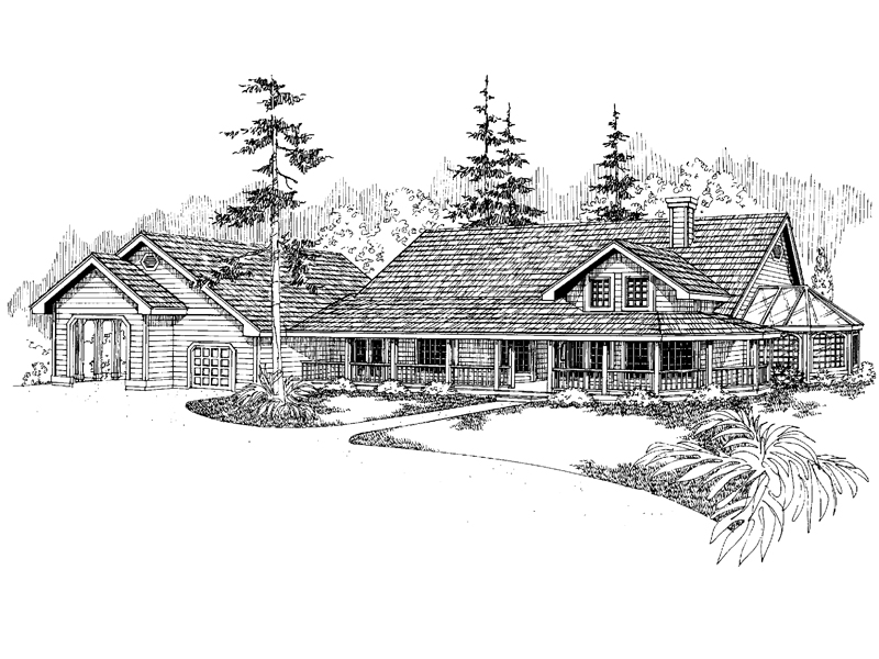 Country House Plan Front of Home - 085D-0650 | House Plans and More