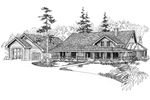 Ranch House Plan Front of Home - 085D-0650 | House Plans and More