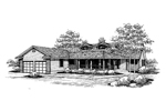 Country House Plan Front of Home - 085D-0651 | House Plans and More