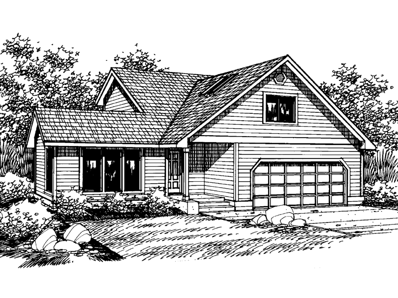 Traditional House Plan Front of Home - 085D-0652 | House Plans and More
