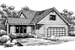 Contemporary House Plan Front of Home - 085D-0652 | House Plans and More