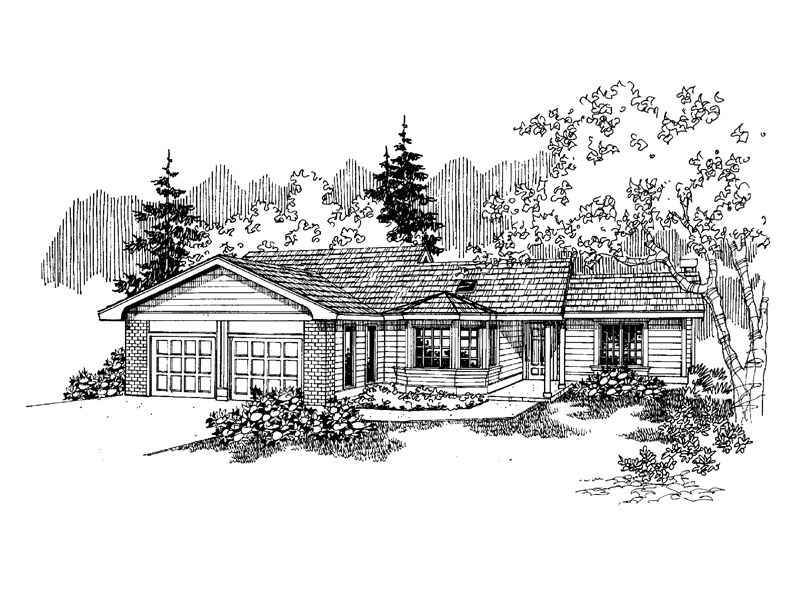 Traditional House Plan Front of Home - 085D-0653 | House Plans and More