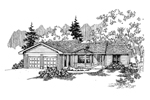 Contemporary House Plan Front of Home - 085D-0653 | House Plans and More