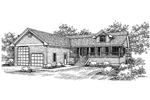Ranch House Plan Front of Home - 085D-0654 | House Plans and More