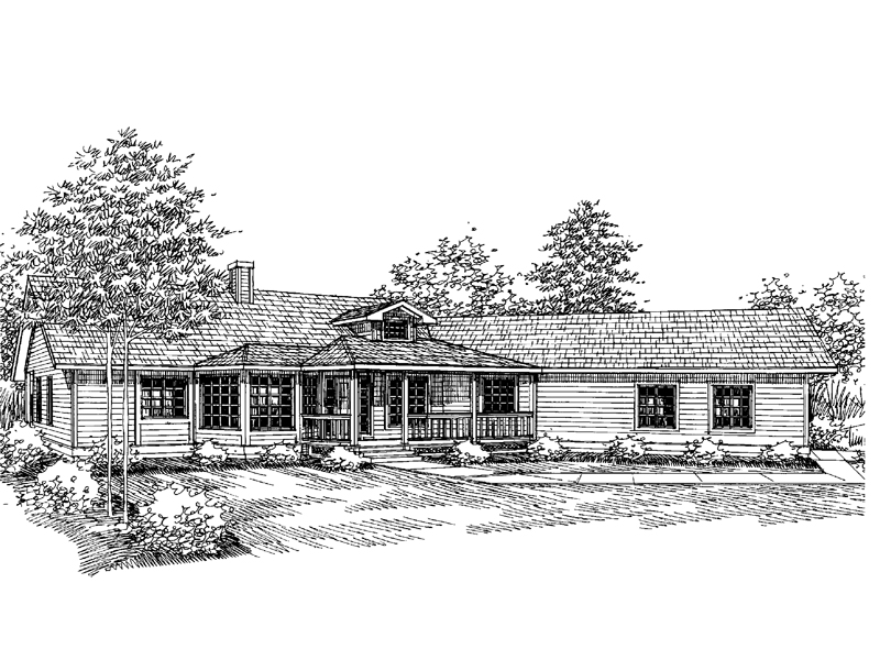 Country House Plan Front of Home - 085D-0655 | House Plans and More