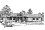Ranch House Plan Front of Home - 085D-0655 | House Plans and More