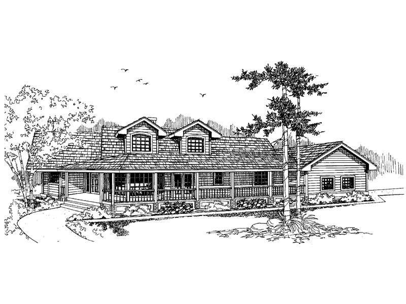 Ranch House Plan Front of Home - 085D-0657 | House Plans and More