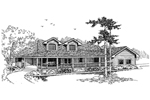 Traditional House Plan Front of Home - 085D-0657 | House Plans and More