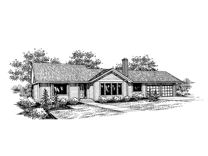 Traditional House Plan Front of Home - 085D-0658 | House Plans and More