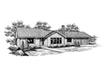 Ranch House Plan Front of Home - 085D-0658 | House Plans and More
