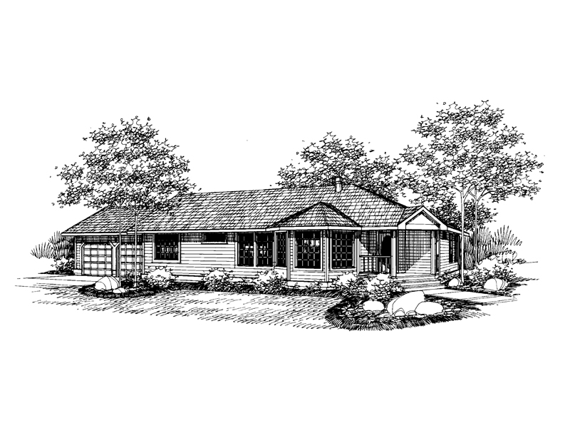 Traditional House Plan Front of Home - 085D-0659 | House Plans and More
